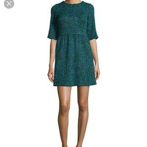 Alice + Olivia Glenys Green Tweed Dress